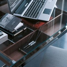 Writing #desk Stylo with glass top and 1 #drawer by @porada0366