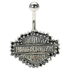 Harley Davidson Belly Button Ring