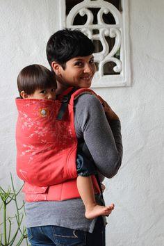 (Toddler Size) HALF Wrap Conversion Tula Toddler - NatiBaby Swallows -