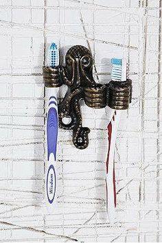 Cool Octopus, Toothbrush Holder, Beach House, Unique, Bathroom, Nautical Home, Furniture, Coastal Decor, Beach Houses