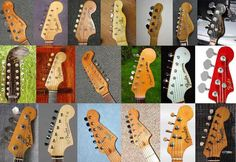 Fender Guitar Headstock Shapes