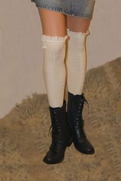 Details about  /Socks Over The Knee Love Heart Size 4-6 UK For Women Lot