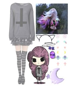 """pastel goth [tag]"" by hiddenshadowxd ❤ liked on Polyvore featuring Glamorous"