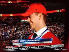 7282a794ea6 Jesperi Kotkaniemi is a Hab! Look how happy he is! Our future topline centre