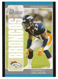 Darrent Williams RC # 259 - 2005 Bowman Football NFL Rookie