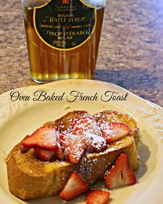 I teased you with some beautiful French Toast  a few weeks ago. As promised, here is the recipe.         This French Toast is baked in t...