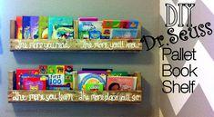 Life We Live 4: Dr.Seuss Pallet Book Shelf  DIY Easy Rustic Wooden Shelf, made for FREE