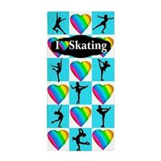 Greatest Skater Beach Towel Inspire your lovely Skater with our personalized Figure Skating Tees, Apparel, and Gifts. http://www.cafepress.com/sportsstar/10189550 #Figureskating #Skatergirl #Borntoskate #Lovetoskate #Icequeen