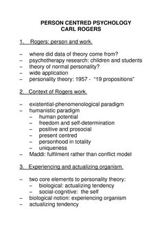 Person Centered Therapy Carl Rogers