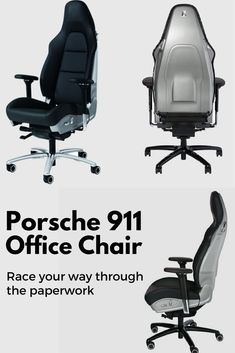 Sitting in an office can't be boring, here's Porsche 911 Office Chair. This is a must have in any petrol head's office!