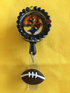 bcf1fc33e8a NEW Pittsburgh Steelers Retractable Badge Holders #2 by SylviaThisandThat  on… Id Holder, Badge