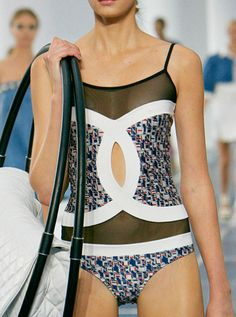 Loving this Chanel swimsuit