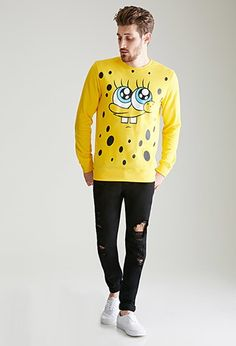 SpongeBob x Mina Kwon Close-Up Graphic Sweatshirt | 21 MEN - 2000116563