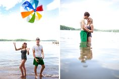 Summertime engagement session by La Vie Photography #wedding #engagement