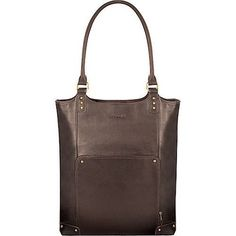 Solo Laptop Notebook Leather Tote in Mahogany