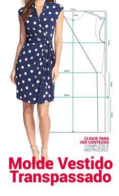 FAÇA SEUS MOLDES SIMPLES E MUITO FÁCIL ! MOLDE VISTIDO TRANSPASSADO DE MALHA . Fair dress template molde de saia , skirt mold, dicas de costura, molde de graça, #modelagem, #moldes #costura #dicasdecostura #cusrodemodelagem #molde #dicasdemoda #dicasdemodelagem #moldefeminino #moldesfree #moldedegraça #façavocemesmo