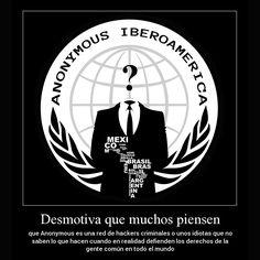 Hay personas que nos definen como criminales o ciber-terroristas pero todo lo que hacemos es por la causa de ayudar al pueblo http://instagram.com/p/vqNfzSDuv0/ #Anonymous #Iberoamerica #AnonIbero