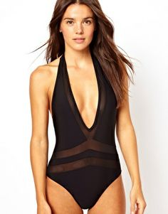 8eb1226caa 80s French Cut Swimsuit Black High Cut Bathing Suit Sexy Cut Out Bow ...