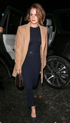 Emma Watson from Movie Premieres: Red Carpets and Parties!  The Harry Potter star arrives at a London screening of The True Cost.