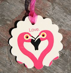 Flamingo Love Tags by lmmcclure42 on Etsy, $8.00