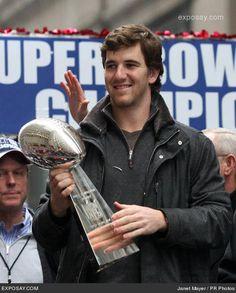 Eli Manning Superbowl XLII | Eli Manning - Super Bowl XLII - New York Giants Ticker Tape Victory ...