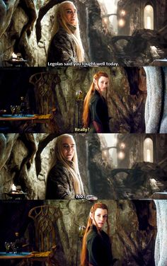 Even Thranduil participates in April Fool's Day! Too bad Tauriel was left out of the loop.