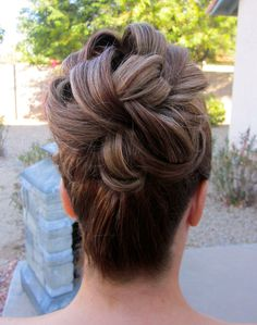 Bridal Hair and Makeup by:  All Done Up!  Bridal hair, wedding hair, bridesmaid, updo, big bun, formal look, prom style, Bride, Scottsdale, Arizona, all done up, on location, salon, romantic hair, messy, undone, side messy bun, curly hair,
