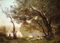 Recollections of Mortefontaine, 1864 by Camille Corot. Realism. landscape