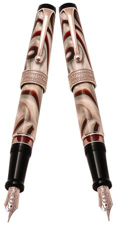 Aurora Oceania Fountain Pen is a special edition pen, numbered but not limited. The pen is manufactured for only limited time. Oceania's symbol on the ring. Red stone on the head represents the typical color of oceania. Shape of elegantly engraved on the clip. Nib: 18kt. Rose Gold. Filling : Piston Filling. #AuroraLimitedEdition Please follow the link for further details. http://www.penboutique.com/p-12788-aurora-oceania-fountain-pen.aspx