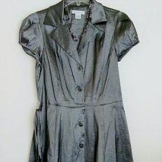 I just added this to my closet on Poshmark: Charcoal gray Liz Claiborne dress.. Price: $18 Size: 10
