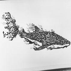 Whale shark doodle