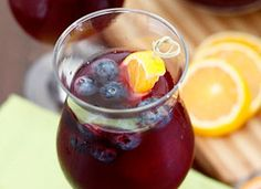 If you're looking for a different way to make Sangria, then blueberry and ginger ale are an excellent combination.