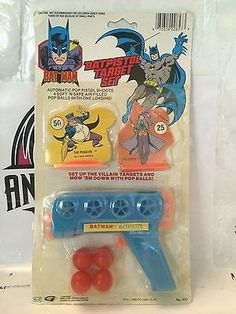 Batman Batpistol Target Set This item is NOT in Mint Condition and is in no way being described as Mint or even Near Mint. Our toys have not always lead the perfect life, nor have they been treated as
