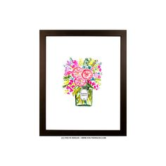"""Budding geniuses like yourself know that flowers make the best accessory. The brighter, the better! Painted by artist Evelyn Henson, allprints in the Spring Summer 2016 collection feature bold brushstrokes, colorful details, and the EH signature (can you find it?!). Your brightly decorated life starts here. Print Details Professionally printed on white rag 310 gsm paper with fade resistant inks for a high quality finish.   Frame Details Framed in a 2"""" wide matte enamel finish Depth of…"""