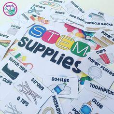 Free Resource Library - Teach Outside the Box Free School Supplies, Classroom Supplies, Classroom Organization, Organization Ideas, Classroom Ideas, Classroom Labels Free, Supply Labels, Center Labels, Free Preschool