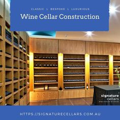 If you are a wine aficionado then a wine cellar co Wine Cellars, Wine Storage, Storage Solutions, Bespoke, Conditioner, Construction, Passion, Outdoor Decor, House