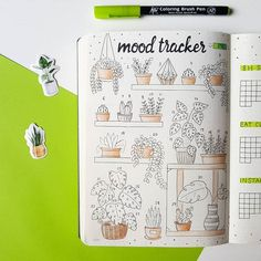 Claudia | 16 | Bullet journal sur Instagram: Hope you are having a lovely saturday☀️ This is my mood tracker for march! Due to the closing of schools, I have some more time for bullet…