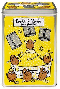 keladeco.com - #boite a sachet de #puree, idée deco cuisine, boite à purée valérie nylin, boite derriere la porte - DLP