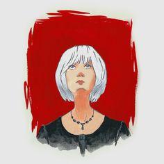 Punaista by Petri Fills #gouache #illustration