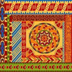 ethnique afrique: Ensemble de motifs ethniques avec des ornements pour la conception