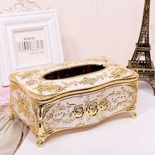 Fashion Car Home Acrylic Tissue Box High-grade European Rhinestone Decoration Large Paper Box 22x13x9cm(China)