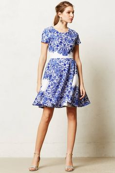In love with this flirty dress from Anthropologie