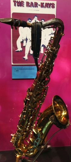 One of the rarest and most prized items in the Stax Museum is this King Super 20 saxophone that belonged to orginal Bar-Kays member Phalon Jones. It was retrieved from Lake Monona shortly after the plane carrying Otis Redding and Jones' fellow band mates crashed on December 10, 1967 killing everyone aboard except trumpet player Ben Cauley.