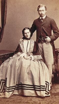 Princess Alexandra of Denmark with the Prince of Wales, later Edward VII