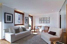 Sala de estar con tonos neutros