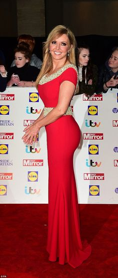 Ravishing in red! Carol Vorderman, 53, sent jaws dropping when she stepped out at the Prid...