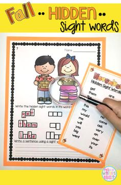 An engaging activity for learning sight words! Kindergarten and first grade students will feel like they are playing a game as they practice reading and spelling hidden sight words with a magnifying glass. A low prep printable!