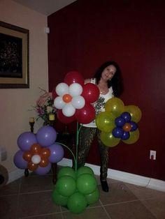 Flores de globos