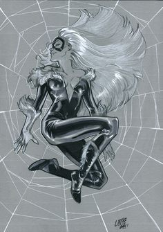 Black Cat by Pepe Larraz Commissions on Behance Marvel Comic Character, Comic Book Characters, Comic Books Art, Fantasy Characters, Marvel Girls, Comics Girls, Marvel Art, Spiderman Black Cat, Black Cat Marvel