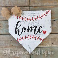 Home - Heart, Baseball, Home Plate, Door Hanger, Wreath